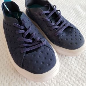 Kids Native Shoes Sneakers Lace-Up Navy